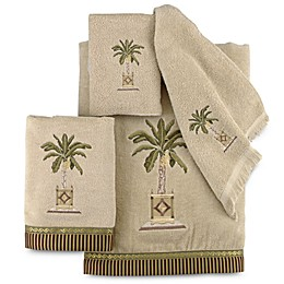 Avanti Banana Palm Bath Towel Collection in Linen