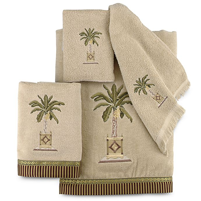 Alternate image 1 for Avanti Banana Palm Bath Towel Collection in Linen