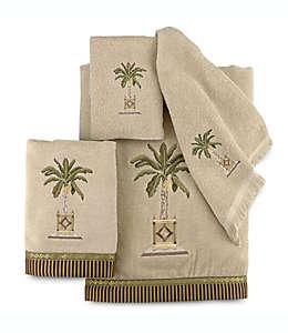 Toalla para manos de algodón Avanti Banana Palm color lino