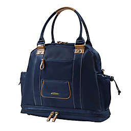 Vilah Bloom Sail Away Diaper Satchel in Nautical Navy