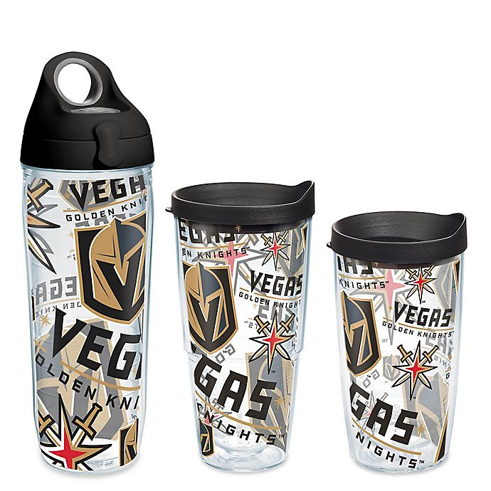 Alternate image 1 for Tervis® NHL Vegas Golden Knights Allover Wrap Drinkware with Lid