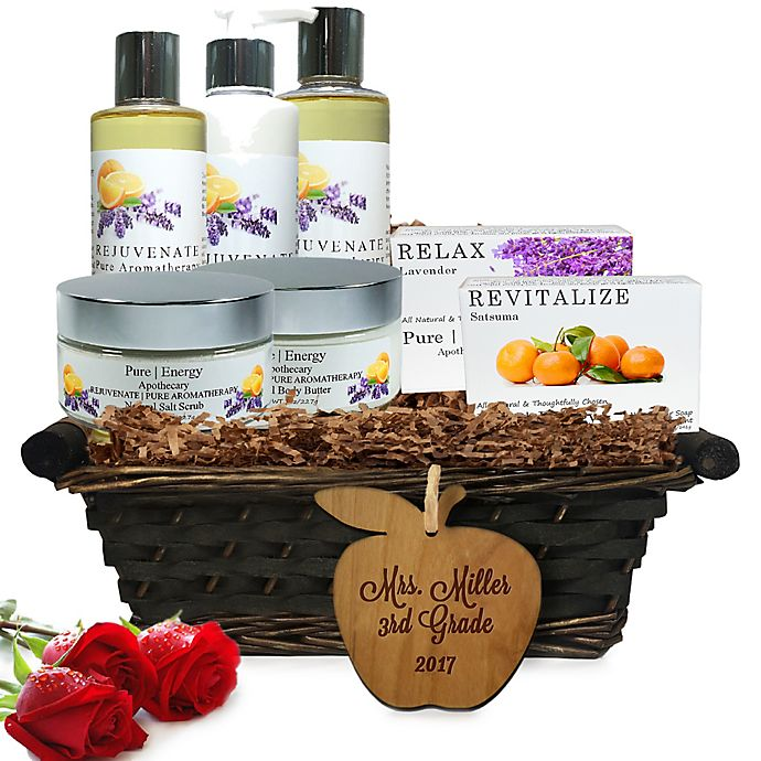 Alternate image 1 for Pure Energy Apothecary Ultimate Body Pure Aromatherapy Teacher Gift Basket
