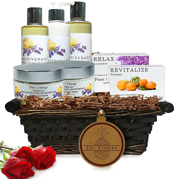 Alternate image 1 for Pure Energy Apothecary Ultimate Body Pure Aromatherapy Split Letter Pineapple Gift Basket
