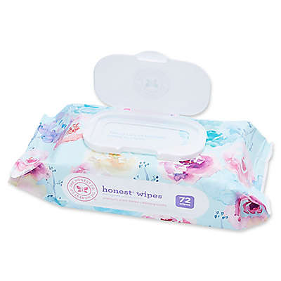 Honest 72-Count Wipes in Floral