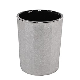 Pleated Electroplated Wastebasket in Chrome