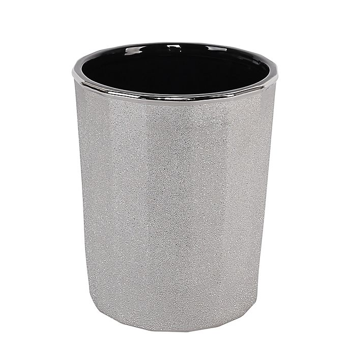 Alternate image 1 for Pleated Electroplated Wastebasket in Chrome