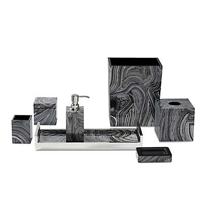 Roselli Trading Cleo Bath Ensemble in Black/White