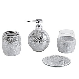 Madison Park Mosaic 4-Piece Bath Accessory Set