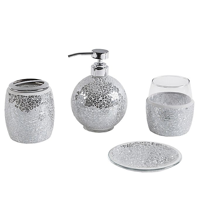 Alternate image 1 for Madison Park Mosaic 4-Piece Bath Accessory Set