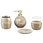 Madison Park Mosaic 4-Piece Bath Accessory Set in Gold