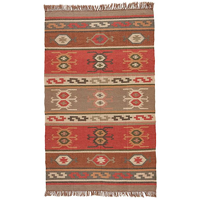Alternate image 1 for Jaipur Bedouin Thebes Deep Rust Tribal Rug