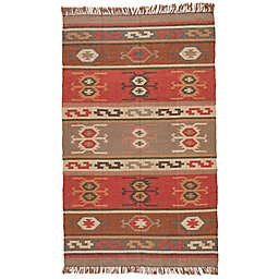 Jaipur Bedouin Thebes Deep Rust Tribal Rug