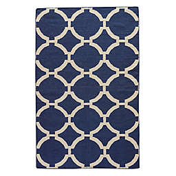 Jaipur Maroc Rafi Rug in Deep Navy/Antique White