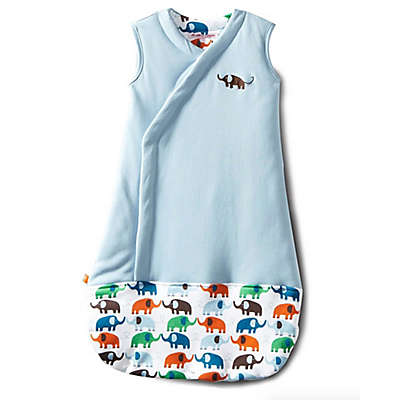 Magnetic Me by Magnificent Baby® Size 6-12M Elephants Magnetic Wearable Blanket in Blue