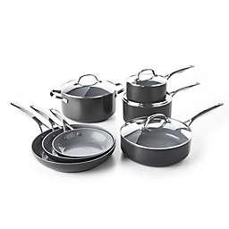 GreenPan™ Valencia Pro Ceramic Nonstick 11-Piece Cookware Set in Grey