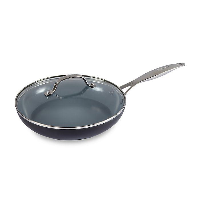 Alternate image 1 for GreenPan™ Valencia Pro Ceramic Nonstick 10-Inch Covered Fry Pan in Grey