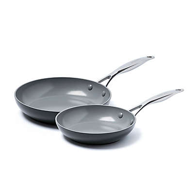 GreenPan™ Valencia Pro Ceramic Nonstick 8-Inch and 10-Inch Fry Pans Set in Grey