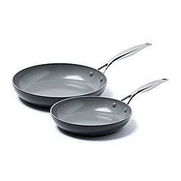 GreenPan™ Valencia Pro Ceramic Nonstick 10-Inch and 12-Inch Fry Pans Set in Grey
