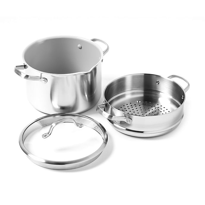 Alternate image 1 for GreenPan™ Venice Pro Ceramic Nonstick 8 qt. Covered Stock Pot and 9.5\