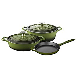 La Cuisine 5-Piece Enameled Cast Iron Oval Cookware Set