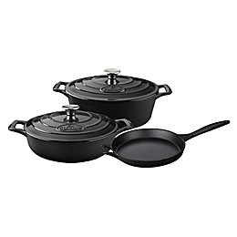 La Cuisine 5-Piece Enameled Cast Iron Oval Cookware Set