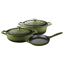 La Cuisine PRO 5-Piece Enameled Cast Iron Oval Cookware Set