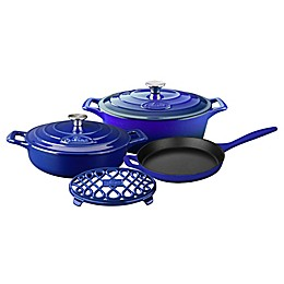 La Cuisine PRO 6-Piece Enameled Cast Iron Oval Cookware Set