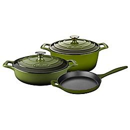 La Cuisine PRO 5-Piece Enameled Cast Iron Round Cookware Set
