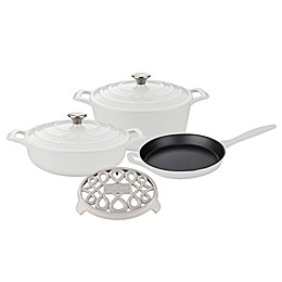 La Cuisine PRO 6-Piece Enameled Cast Iron Round Cookware Set