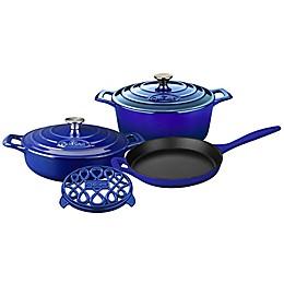 La Cuisine PRO 6-Piece Enameled Cast Iron Round Cookware Set