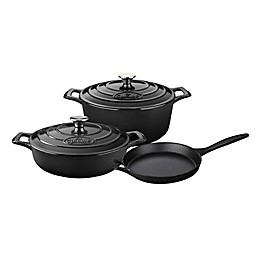 La Cuisine 5-Piece Enameled Cast Iron Round Cookware Set