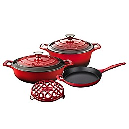 La Cuisine 6-Piece Enameled Cast Iron Round Cookware Set