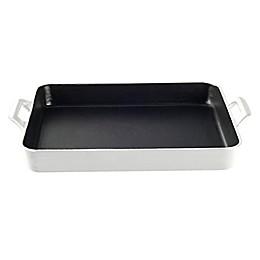 La Cuisine 3 qt. Shallow Cast Iron Roasting Pan