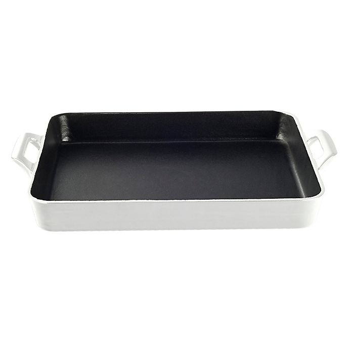 Alternate image 1 for La Cuisine 3 qt. Shallow Cast Iron Roasting Pan