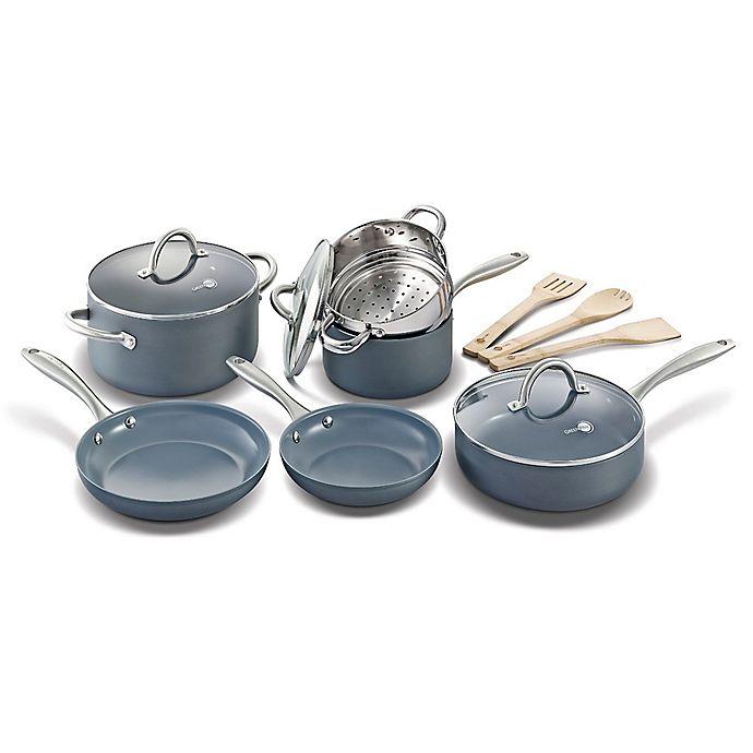 Alternate image 1 for GreenPan™ Lima Ceramic Nonstick 12-Piece Cookware Set in Grey