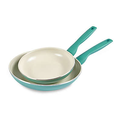 GreenPan™ Rio Ceramic Nonstick 8-Inch and 10-Inch Fry Pan Set in Turquoise