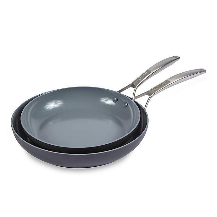 Alternate image 1 for GreenPan™ Paris Ceramic Nonstick 10-Inch and 12-Inch Fry Pan Set