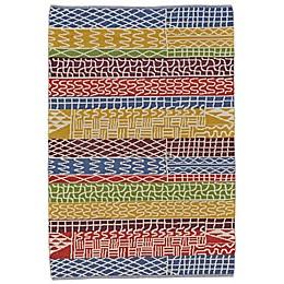 Feizy Bashia Rainbow Stripe Multicolor Rug
