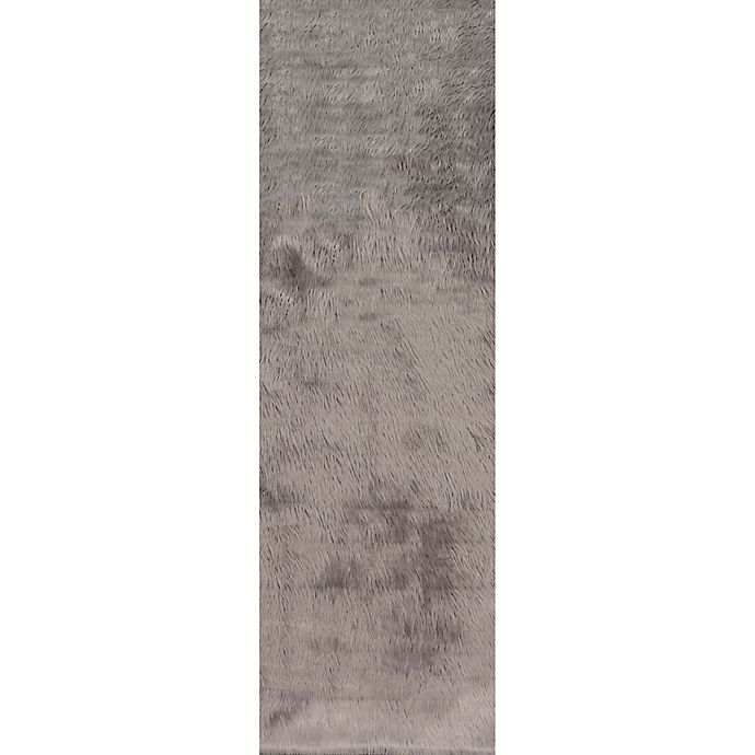 Alternate image 1 for nuLOOM Cloud Shag 2-Foot 6-Inch x 8-Foot Runner in Grey