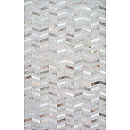 nuLOOM Mitch Cowhide Area Rug in Silver