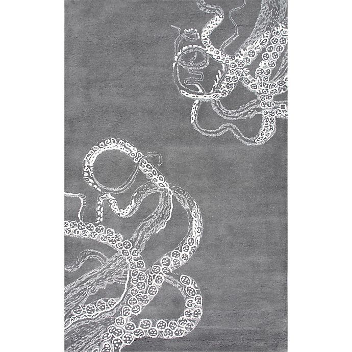 Alternate image 1 for Nuloom Octopus Tail 4-Foot x 6-Foot Area Rug in Midnight