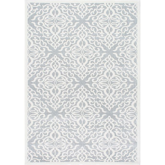 Alternate image 1 for nuLOOM Contessa 6-Foot 7-Inch x 9-Foot Area Rug in Silver
