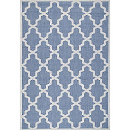 nuLOOM Gina Moroccan Trellis 6-Foot 3-Inch x 9-Foot 2-Inch Indoor/Outdoor Area Rug in Blue
