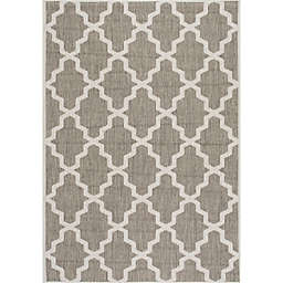 nuLOOM Gina Moroccan Trellis 8-Foot 6-Inch x 13-Foot Indoor/Outdoor Area Rug in Taupe