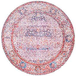 nuLOOM Elmer Vintage Medallion 5-Foot 3-Inch Round Area Rug in Blush