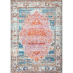 nuLOOM Elmer Vintage Medallion 7-Foot 10-Inch x 10-Foot 10-Inch Area Rug in Orange