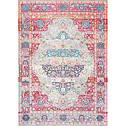nuLOOM Fancy Medallion Renato 7-Foot 10-Inch x 10-Foot 10-Inch Area Rug in Red