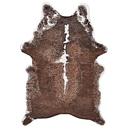Feizy Santa Clara 5-foot x 7-Foot Faux Hide Area Rug in Brown