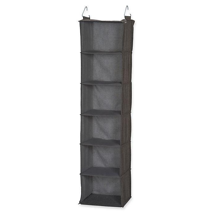 Alternate image 1 for Household Essentials® 6-Shelf Hanging Closet Organizer in Grey
