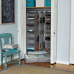 Household Essentials® 10-Shelf Hanging Shoe Organizer in Grey